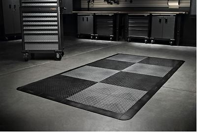 Gladiator Garage Flooring 32-Piece 12in x 12in Tread Plate Floor Tile Tiles (Tread Garage Floor Tiles)