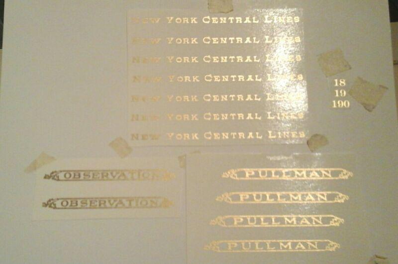 LIONEL PRE-WAR STANDARD SCALE 18-19-190 GOLD METALLIC WATER DECAL NYC SERIF LOOK