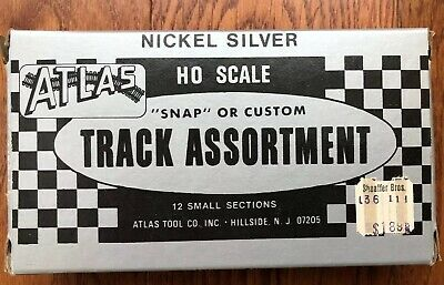 ATLAS NICKEL SILVER SNAP OR CUSTOM TRACK ASSORTMENT FOR HO SCALE TRAINS