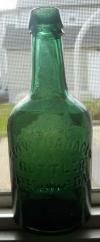 Iron Pontil Green Dyottville Flanagen Bottler Philadelphia Squat Soda Ale Bottle