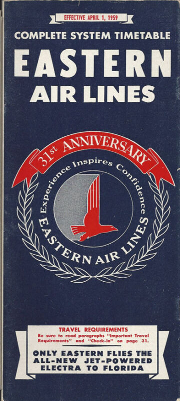 Eastern Air Lines system timetable 4/1/59 [0051]