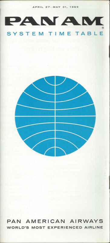 Pan Am system timetable 4/27/69 [0098]
