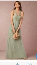 V-neck Sleeveless dress pale green