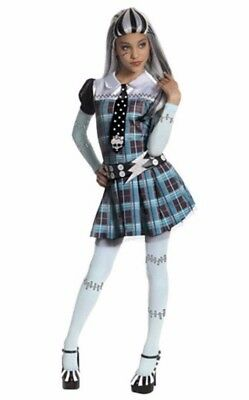 Monster High Frankie Stein Costume Dress Girls Outfit Youth Medium (8-10) - Monster Costume Girls