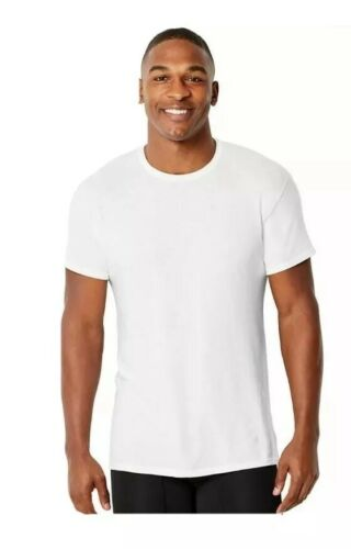 Hanes 4-Pack Men's White T-Shirt L Modal Blend Comfort Tee