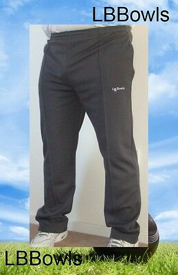 LBBowls Mens Sports Bowls Trousers Available in Grey & White