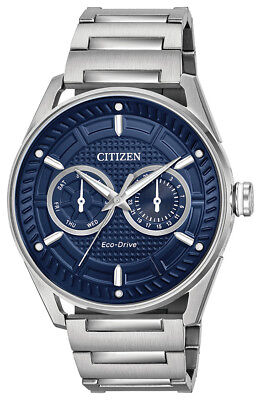 Citizen Eco-Drive Men's CTO Blue Dial Silver-Tone 42mm Watch  BU4020-52L