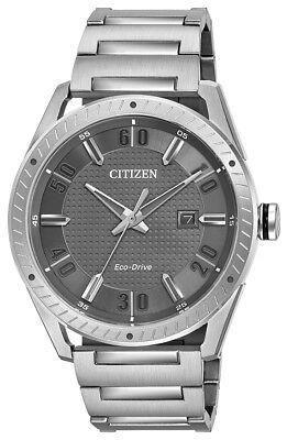 Citizen Eco-Drive Men's Drive Gray Dial Silver-Tone 42mm Watch BM6991-52H