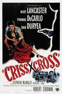 CRISS CROSS, 1948, BURT LANCASTER, YVONNE DeCARLO 'Film Noir': DVD-R Region (Criss Cross Burt Lancaster)