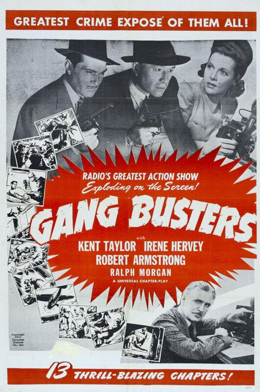 GANG BUSTERS Movie POSTER 27x40 B Kent Taylor Irene Hervey Ralph Morgan Robert