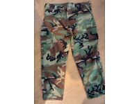 US MILITARY WOODLAND CAMOUFLAGE TROUSERS