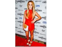 charlotte crosby red playsuit