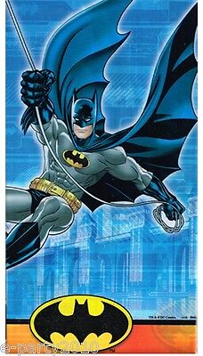 BATMAN PLASTIC TABLE COVER ~ Birthday Party Supplies Decorations Superhero Comic