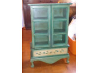 Cute small shabby chic style painted cabinet