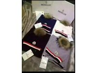 Moncler hats and scarfs
