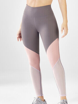 Fabletics Zone High Waisted Legging Size Small 6 Pink Rosebloom