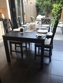 IKEA extendable table (Bjursta), black/brown (length 175 - 260cm) - great condition