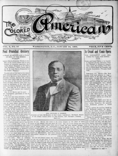 The Colored American Newspaper 1904- High Quality 8x10 New Photo Reprint