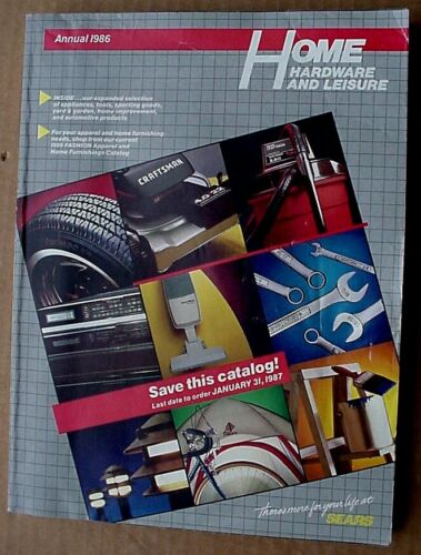 1986  SEARS Annual Home Hardware and Leisure Catalog-East  Edition