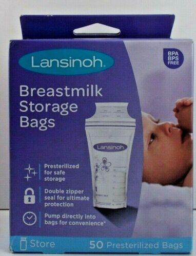 Lansinoh Breastmilk Storage Bags 50 Presterilized Bags ~ Free Shipping