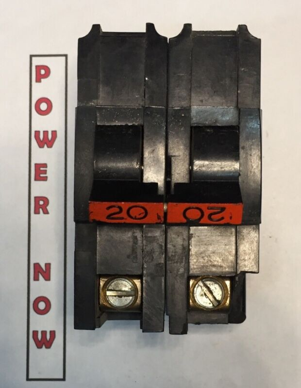 Federal Pacific FPE Stab-Lok Breaker 2 Pole 20 Amp 240V Thick - Ships Today