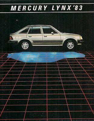 Mercury Lynx 1983 USA Market Sales Brochure L GS LS RS 3-dr 5-dr Station Wagon