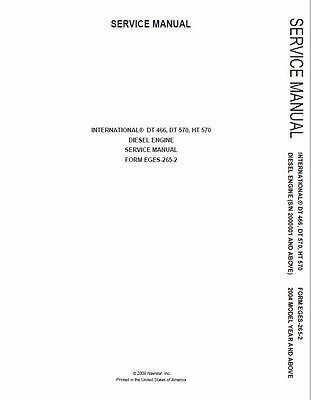 International DT466 DT466E DT530 DT570 Engine Workshop Service Manual on CD ROM