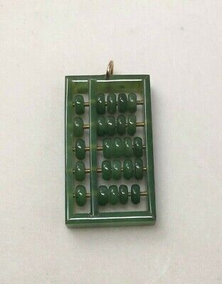 Jade Abacus Pendant Moveable Parts