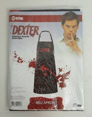 Halloween Tv Show (NIP Dexter TV Show Showtime Halloween BBQ Vinyl Apron Blood Splatter Dad)