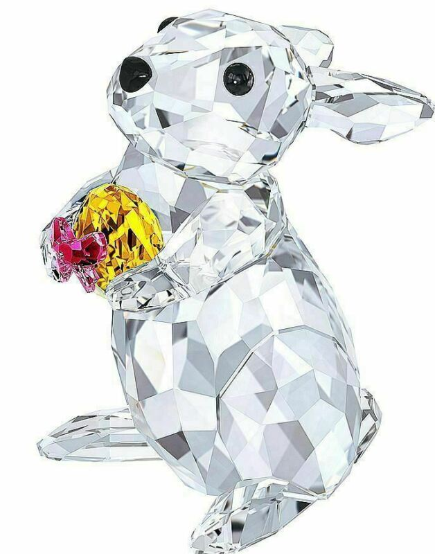 NIB Swarovski Crystal Figurine Rabbit With Easter Egg Bunny # 5274174