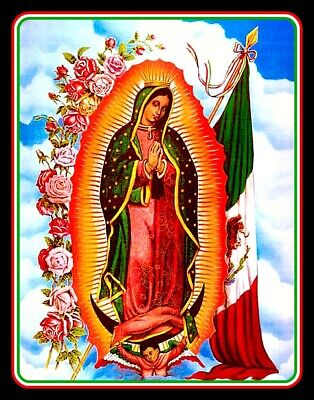 """4"""" Virgin Mary of Guadalupe vinyl sticker. Mexican Flag decal for car, laptop."""
