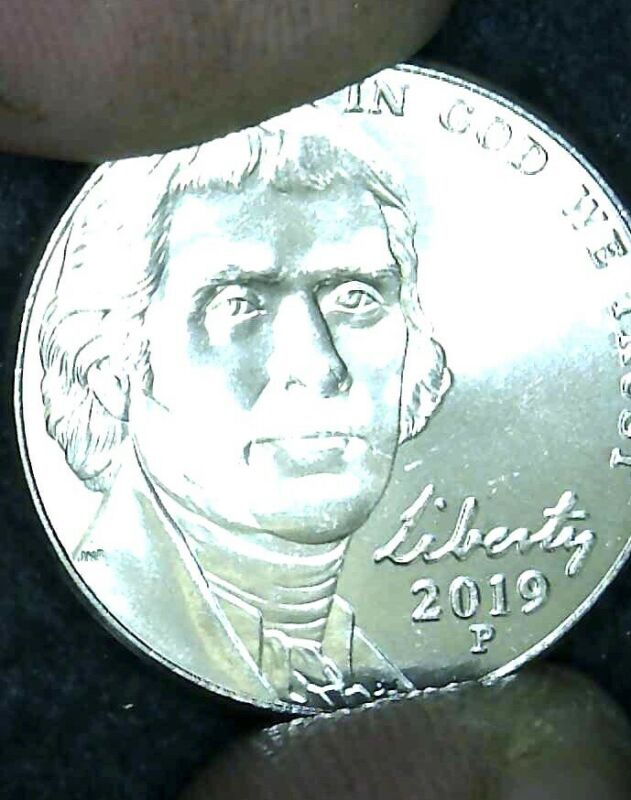 👉🏼UNCIRCULATED 2019 P JEFFERSON NICKEL!! FREE SHIPPING!!!