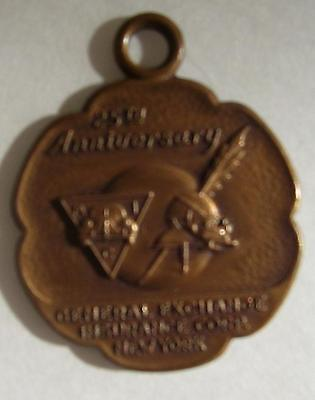 General Exchange Insurance Corp New York 25 Years Anniversary Medallion Coin Fob