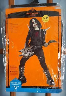Boys M 10/12 Metal Mayhem Horror Rock Star Halloween Costume New](Rockstar Costumes For Boys)