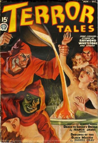 TERROR TALES PULP 1937 COVER OIL PAINTING recreation by Fritz Gurney 20x24