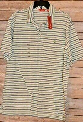MEN'S IZOD OXFORD STRIPE POLO GOLF SHIRT SIZE: XL COLOR: FOREST GREEN STRIPED Mens Oxford Golf Shirt
