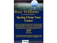 March PGA Golf Lesson Offer