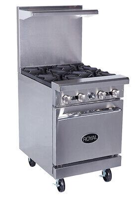 New 24 4 Burner Range Standard Oven Royal Rr4 1123 Commercial Restaurant Nsf