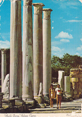 CYPRUS POSTCARD MARBLE FORUM SALAMIS FAMAGUSTA BY NAGELE c1973