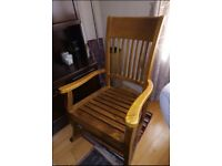 Rocking chair/ armchair, exceptional, made of solid wood, furniture in very good quality