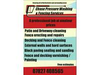 Patio & driveway cleaning and Fencing services