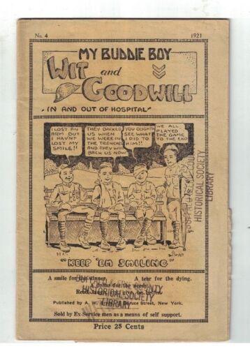My Buddie Boy No 4 1921 World War I Veterans Support Sold by Ex-Servicemen