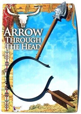 ARROW THROUGH HEAD GAG Steve Martin Funny Clown Joke Prank Cowboy & Indian Thru (Headband Jokes)