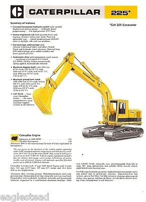 Equipment Brochure - Caterpillar - 225 - Excavator - 1978 Eb06