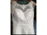 Wedding Dress with Lace Detail.