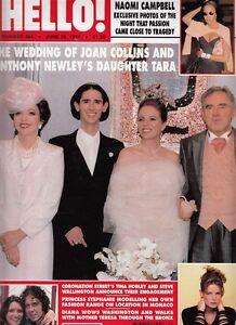 JOAN COLLINS - ANTHONY NEWLEY -  British HELLO! Magazine June 28th 1997 C#31