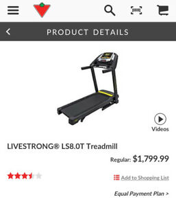 Livestrong LS 8.0T Treadmill - Basically Brand New