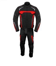 Red and black textile Motorbike Suit, Waterproof