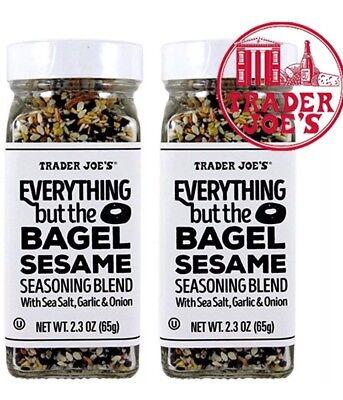 Trader Joe's Everything but the Bagel Sesame Seasoning Blend 2.3oz (Pack Of 2)
