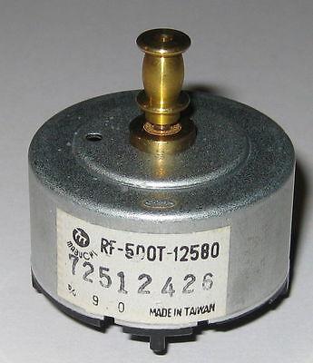 Mabuchi Rf-500 Motor W Pulley For Vcr Cd Dvd Player - 9v Dc - Rf-500t-12580